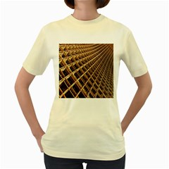Construction Site Rusty Frames Making A Construction Site Abstract Women s Yellow T-Shirt