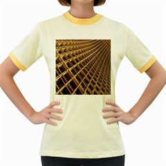 Construction Site Rusty Frames Making A Construction Site Abstract Women s Fitted Ringer T Shirts
