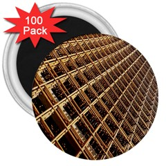 Construction Site Rusty Frames Making A Construction Site Abstract 3  Magnets (100 pack)