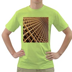 Construction Site Rusty Frames Making A Construction Site Abstract Green T Shirt