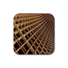 Construction Site Rusty Frames Making A Construction Site Abstract Rubber Square Coaster (4 pack)