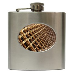 Construction Site Rusty Frames Making A Construction Site Abstract Hip Flask (6 oz)