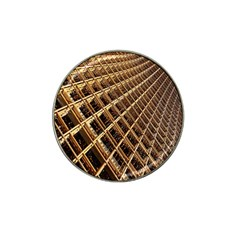 Construction Site Rusty Frames Making A Construction Site Abstract Hat Clip Ball Marker (4 Pack)