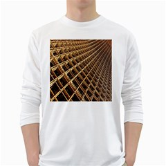 Construction Site Rusty Frames Making A Construction Site Abstract White Long Sleeve T-Shirts