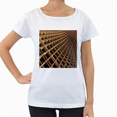 Construction Site Rusty Frames Making A Construction Site Abstract Women s Loose Fit T Shirt (white)