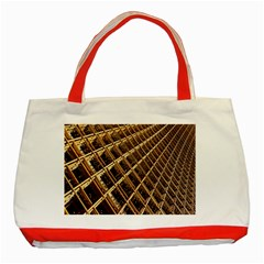 Construction Site Rusty Frames Making A Construction Site Abstract Classic Tote Bag (Red)