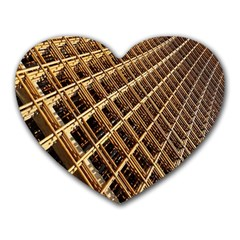 Construction Site Rusty Frames Making A Construction Site Abstract Heart Mousepads