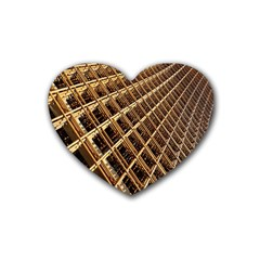 Construction Site Rusty Frames Making A Construction Site Abstract Heart Coaster (4 pack)