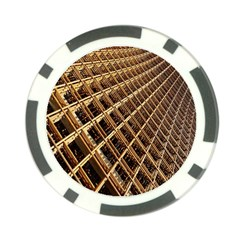 Construction Site Rusty Frames Making A Construction Site Abstract Poker Chip Card Guard (10 Pack)