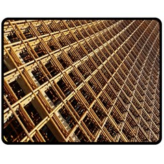 Construction Site Rusty Frames Making A Construction Site Abstract Fleece Blanket (Medium)