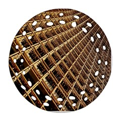 Construction Site Rusty Frames Making A Construction Site Abstract Round Filigree Ornament (Two Sides)