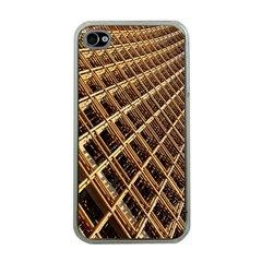 Construction Site Rusty Frames Making A Construction Site Abstract Apple iPhone 4 Case (Clear)