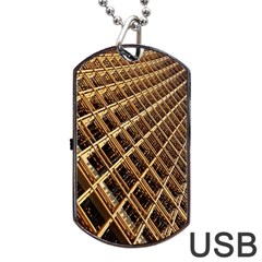 Construction Site Rusty Frames Making A Construction Site Abstract Dog Tag Usb Flash (one Side)