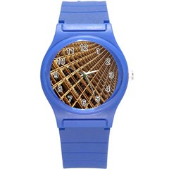 Construction Site Rusty Frames Making A Construction Site Abstract Round Plastic Sport Watch (s)