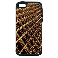 Construction Site Rusty Frames Making A Construction Site Abstract Apple iPhone 5 Hardshell Case (PC+Silicone)