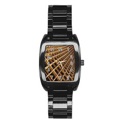 Construction Site Rusty Frames Making A Construction Site Abstract Stainless Steel Barrel Watch