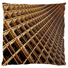 Construction Site Rusty Frames Making A Construction Site Abstract Large Flano Cushion Case (two Sides)