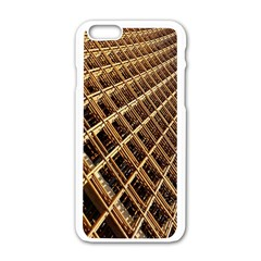 Construction Site Rusty Frames Making A Construction Site Abstract Apple iPhone 6/6S White Enamel Case