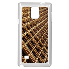 Construction Site Rusty Frames Making A Construction Site Abstract Samsung Galaxy Note 4 Case (White)