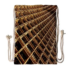 Construction Site Rusty Frames Making A Construction Site Abstract Drawstring Bag (large)