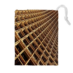Construction Site Rusty Frames Making A Construction Site Abstract Drawstring Pouches (Extra Large)