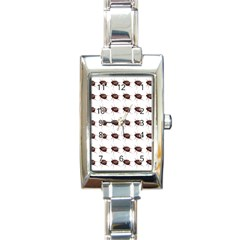 Insect Pattern Rectangle Italian Charm Watch