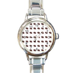 Insect Pattern Round Italian Charm Watch