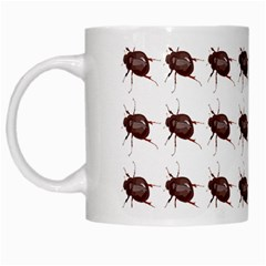 Insect Pattern White Mugs