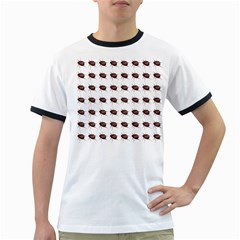 Insect Pattern Ringer T Shirts