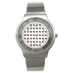 Insect Pattern Stainless Steel Watch