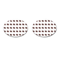 Insect Pattern Cufflinks (oval)