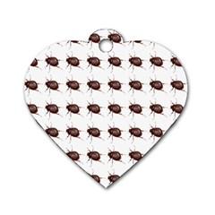Insect Pattern Dog Tag Heart (Two Sides)