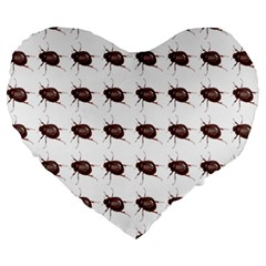 Insect Pattern Large 19  Premium Heart Shape Cushions