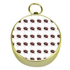 Insect Pattern Gold Compasses