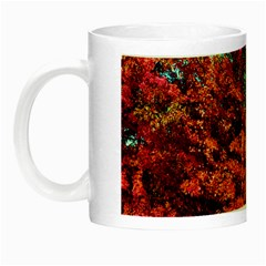 Abstract Fall Trees Saturated With Orange Pink And Turquoise Night Luminous Mugs