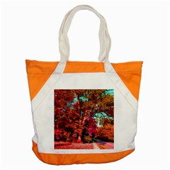 Abstract Fall Trees Saturated With Orange Pink And Turquoise Accent Tote Bag