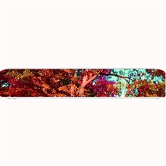 Abstract Fall Trees Saturated With Orange Pink And Turquoise Small Bar Mats