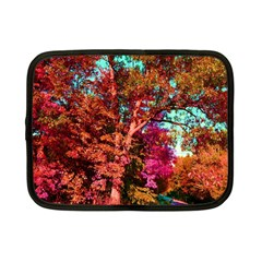 Abstract Fall Trees Saturated With Orange Pink And Turquoise Netbook Case (small)