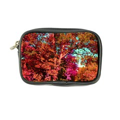 Abstract Fall Trees Saturated With Orange Pink And Turquoise Coin Purse