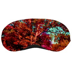 Abstract Fall Trees Saturated With Orange Pink And Turquoise Sleeping Masks