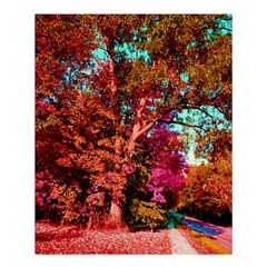 Abstract Fall Trees Saturated With Orange Pink And Turquoise Shower Curtain 60  X 72  (medium)