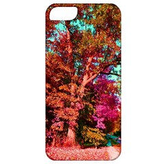 Abstract Fall Trees Saturated With Orange Pink And Turquoise Apple Iphone 5 Classic Hardshell Case