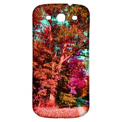 Abstract Fall Trees Saturated With Orange Pink And Turquoise Samsung Galaxy S3 S III Classic Hardshell Back Case