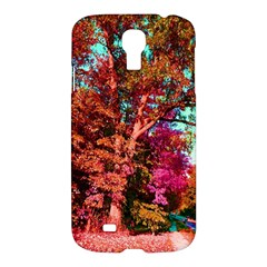 Abstract Fall Trees Saturated With Orange Pink And Turquoise Samsung Galaxy S4 I9500/I9505 Hardshell Case