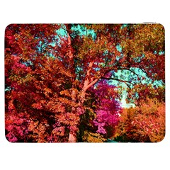 Abstract Fall Trees Saturated With Orange Pink And Turquoise Samsung Galaxy Tab 7  P1000 Flip Case