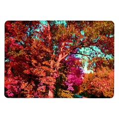 Abstract Fall Trees Saturated With Orange Pink And Turquoise Samsung Galaxy Tab 10.1  P7500 Flip Case