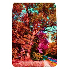 Abstract Fall Trees Saturated With Orange Pink And Turquoise Flap Covers (s)