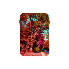 Abstract Fall Trees Saturated With Orange Pink And Turquoise Apple iPad Mini Protective Soft Cases