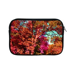 Abstract Fall Trees Saturated With Orange Pink And Turquoise Apple Ipad Mini Zipper Cases