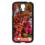 Abstract Fall Trees Saturated With Orange Pink And Turquoise Samsung Galaxy S4 I9500/ I9505 Case (Black) Front